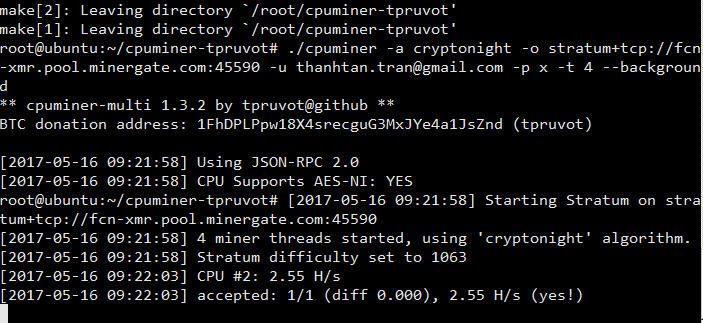 Hướng dẫn đào CryptoCurrency với Orange Pi